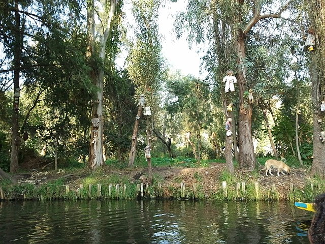 Isla de Muñecas en Los Canales de Xochimilco